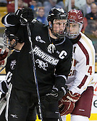 Tim Schaller (Providence - 11), Tommy Cross (BC - 4) - The Boston College Eagles defeated the Providence College Friars 4-2 in their Hockey East semi-final on Friday, March 16, 2012, at TD Garden in Boston, Massachusetts.