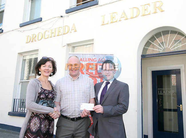 St Josephs Transition Year Coordinator, Mr Kelly with Siobhan Woods from Beverage Business Solutions and Gordan Hatch from the Drogheda Leader at the Presentation of prizes for the Red Hot Writers Course..Photo NEWSFILE/Jenny Matthews.(Photo credit should read Jenny Matthews/NEWSFILE)....This Picture has been sent you under the condtions enclosed by:.Newsfile Ltd..The Studio,.Millmount Abbey,.Drogheda,.Co Meath..Ireland..Tel: +353(0)41-9871240.Fax: +353(0)41-9871260.GSM: +353(0)86-2500958.email: pictures@newsfile.ie.www.newsfile.ie.FTP: 193.120.102.198.