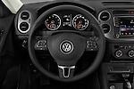 Car pictures of steering wheel view of a 2017 Volkswagen Tiguan S-4Motion 5 Door SUV Steering Wheel