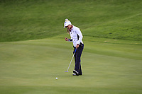 Azahara Munoz of Team Europe on the 2nd green during Day 2 Foursomes at the Solheim Cup 2019, Gleneagles Golf CLub, Auchterarder, Perthshire, Scotland. 14/09/2019.<br /> Picture Thos Caffrey / Golffile.ie<br /> <br /> All photo usage must carry mandatory copyright credit (© Golffile | Thos Caffrey)