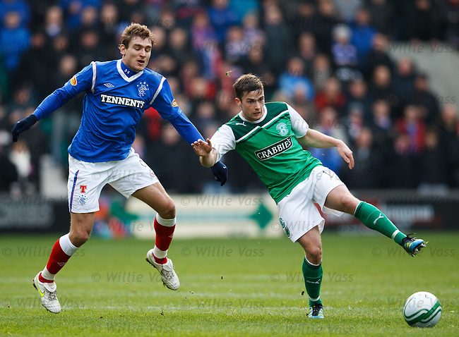 Nikica Jelavic and Lewis Stevenson