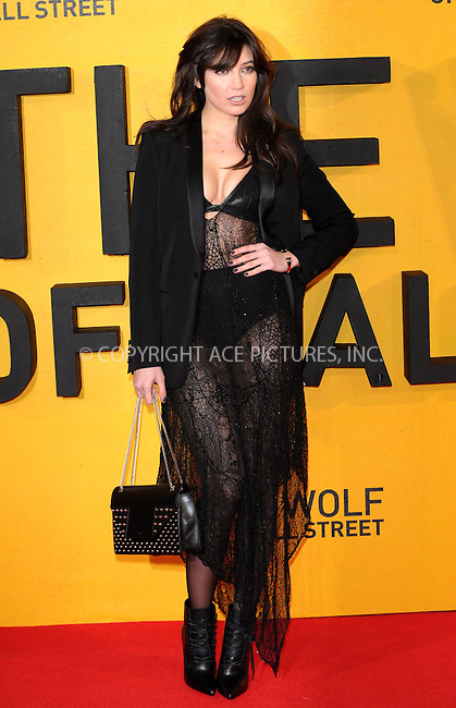 WWW.ACEPIXS.COM<br /> <br /> US Sales Only<br /> <br /> January 9 2014, London<br /> <br /> Daisy Lowe arriving at the UK Premiere of The Wolf of Wall Street at the Odeon Leicester Square on January 9, 2014 in London, England<br /> <br /> By Line: Famous/ACE Pictures<br /> <br /> <br /> ACE Pictures, Inc.<br /> tel: 646 769 0430<br /> Email: info@acepixs.com<br /> www.acepixs.com