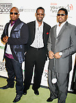 LOS ANGELES, CA. - February 05: Singers Wanya Morris, Shawn Stockman and Nathan Morris of Boyz II Men arrive at the Black Eyed Peas Peapod Foundation benefit concert presented by Adobe Youth Voices inside the Conga Room at the Nokia Theatre L.A. Live on February 5, 2009 in Los Angeles, California.