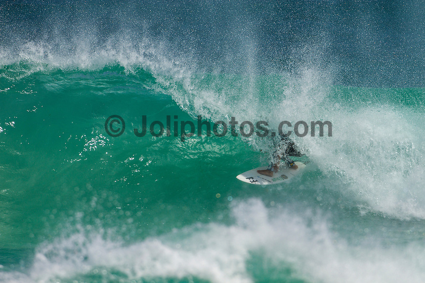 Gas Bay,  Margaret River, Western Australia/Australia (Wednesday, March 22, 2012) Peterson Crisanto (BRA). A clean four foot swell was rolling in this morning with spots all along the coast firing.  A strong south west wind came up around lunch time blowing out most spots but providing the right conditions for the air crew. Photo: joliphotos.com