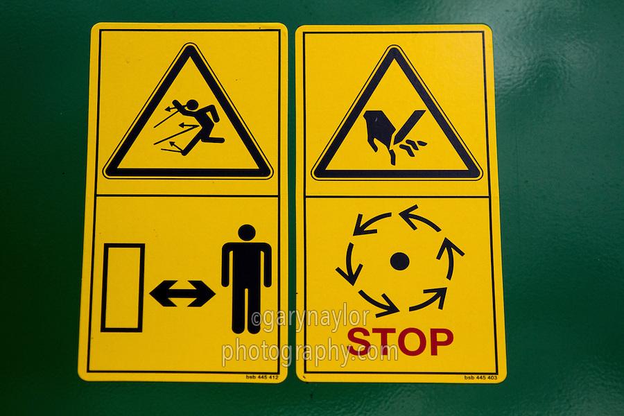 John Deere warning stickers