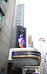 Theatre Marquee unveiling for  'Rocktopia' on February 1, 2018 at the Broadway Theatre in New York City.