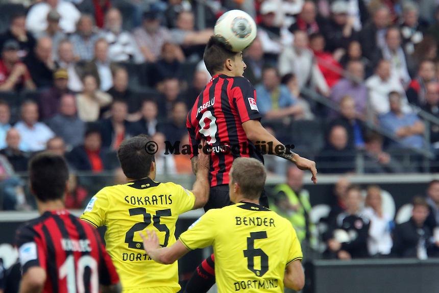 Kopfball Joselu (Eintracht) - Eintracht Frankfurt vs. Borussia Dortmund