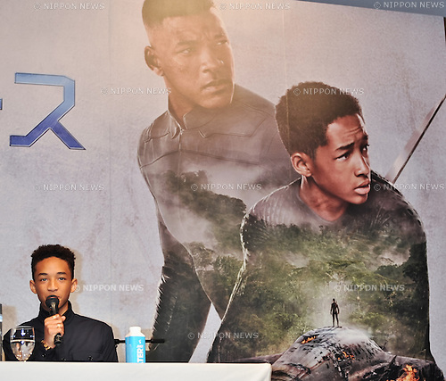 "Jaden Smith, May 2, 2013 :  Tokyo, Japan : Actor Jaden Smith attends the press conference for the film ""After Earth"" in Tokyo, Japan on May 2, 2013. (Photo by AFLO)"