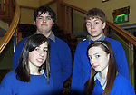 Pictured at the Launch of the Young Entrepeneur Blue Sky Day programme at the Brandon hotel in Tralee is Sean Murray, Racheal Evans, Shannan Daly, Darrenn Prendergast from Milltown Secondary School.<br /> Picture by Sally MacMonagle.