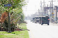 National Guardsmen abound in the city of New Orleans on September 17, 2005.