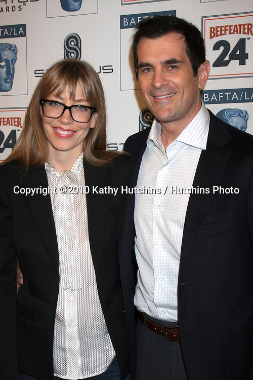 Ty Burrell & Wife.arriving at the BAFTA/LA Awards Season Tea Party 2010.Beverly Hills Hotel.Beverly Hills, CA.January 16, 2010.©2010 Kathy Hutchins / Hutchins Photo....