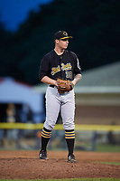 West Virginia Black Bears relief pitcher Adam Oller (38) delivers a pitch gets ready to deliver a pitch during a game against the Batavia Muckdogs on June 26, 2017 at Dwyer Stadium in Batavia, New York.  Batavia defeated West Virginia 1-0 in ten innings.  (Mike Janes/Four Seam Images)