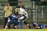 Lawndale, CA 10/21/11 - Okuoma Idah (Peninsula #24) and Ramajae Williams (Leuzinger #33) in action during the Peninsula - Leuzinger varsity football game. in action during the Peninsula - Leuzinger varsity football game.