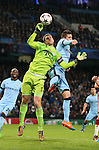 Manuel Neuer of Bayern Munich collects the ball under pressure from Stevan Jovetic of Manchester City - UEFA Champions League group E - Manchester City vs Bayern Munich - Etihad Stadium - Manchester - England - 25rd November 2014  - Picture Simon Bellis/Sportimage