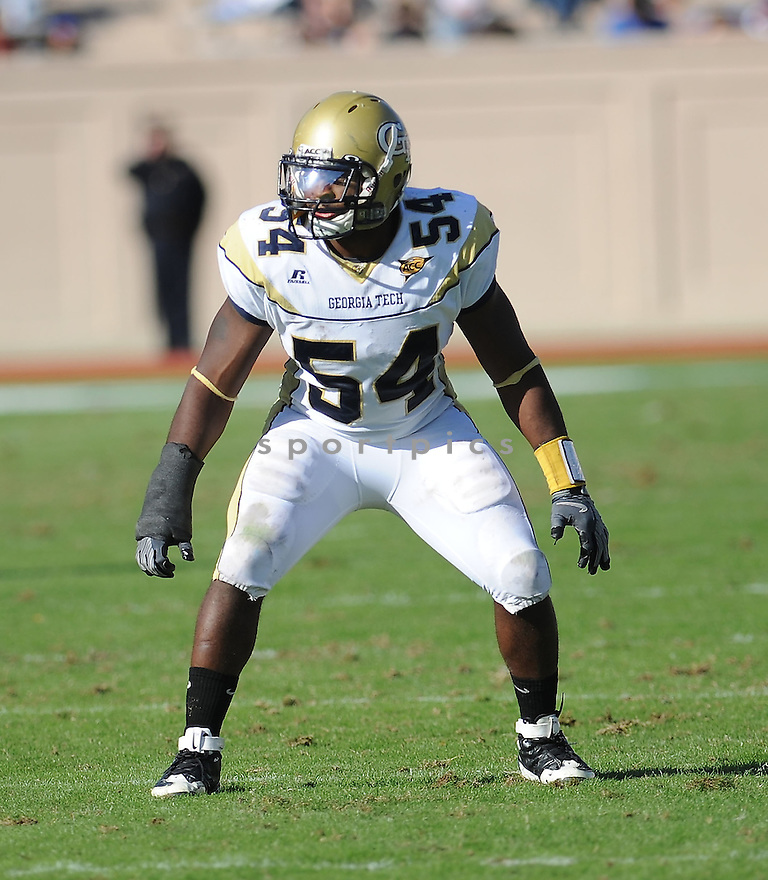 SEDRIC GRIFFIN, of the Georgia Tech Yellow Jackets, in action during the Yellow Jackets game against the Duke Blue Devils on November 14, 2009 in Durham, NC. Georgia Tech won 49-10
