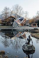 Konzertmuschel im Kurpark in Oberstdorf im Allg&auml;u, Bayern, Deutschland<br /> Bandshell in spa-park of Oberstdorf,  Allg&auml;u, Bavaria, Germany