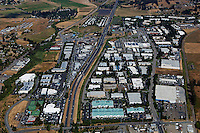 aerial photograph Petaluma, Sonoma county, California