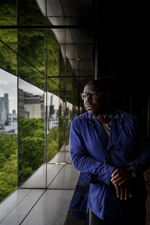 Tokyo, April 21 2014 - Portrait of British artist Steve McQueen before his exibition at L'Espace Louis Vuitton Tokyo.
