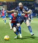 11.02.2019: Ross County v Inverness CT: Tom Walsh and Kenny van der Weg
