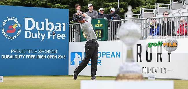 Rafa Cabrera-Bello (ESP) begins Round Three of the 2015 Dubai Duty Free Irish Open Hosted by The Rory Foundation at Royal County Down Golf Club, Newcastle County Down, Northern Ireland. 30/05/2015. Picture David Lloyd | www.golffile.ie