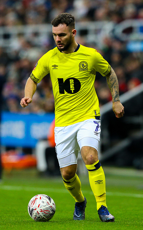 Blackburn Rovers' Adam Armstrong<br /> <br /> Photographer Alex Dodd/CameraSport<br /> <br /> Emirates FA Cup Third Round - Newcastle United v Blackburn Rovers - Saturday 5th January 2019 - St James' Park - Newcastle<br />  <br /> World Copyright © 2019 CameraSport. All rights reserved. 43 Linden Ave. Countesthorpe. Leicester. England. LE8 5PG - Tel: +44 (0) 116 277 4147 - admin@camerasport.com - www.camerasport.com