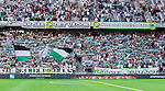 Stockholm 2014-07-20 Fotboll Superettan Hammarby IF - &Ouml;sters IF :  <br /> Hammarbys supportrar med halsdukar och flaggor <br /> (Foto: Kenta J&ouml;nsson) Nyckelord:  Superettan Tele2 Arena Hammarby HIF Bajen &Ouml;ster &Ouml;IF supporter fans publik supporters