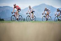 4 Germans (powerhouses) in a row: Marcel Sieberg (DEU/Lotto-Belisol), André Greipel (DEU/Lotto-Belisol),  Marcel Kittel (DEU/Giant-Shimano) & Tony Martin (DEU/OmegaPharma-Quickstep)<br /> <br /> 2014 Tour de France<br /> stage 15: Tallard - Nîmes (222km)