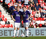 Mark Duffy of Sheffield Utd and John Fleck of Sheffield Utd  during the Championship match at the Stadium of Light, Sunderland. Picture date 9th September 2017. Picture credit should read: Simon Bellis/Sportimage