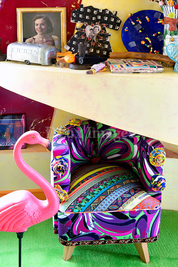 funky colored armchair