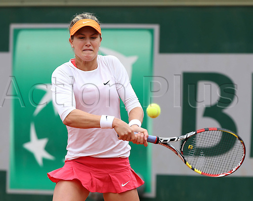 228.05.2014. Roland garros, Paris, France. French Open tennis tournament. Eugenie Bouchard (CAN) beats J Goerges (GER) in 3 sets