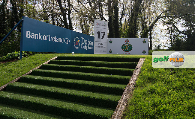 Paul McGinley designed 17th tee during Monday's practice round ahead of the 2016 Dubai Duty Free Irish Open Hosted by The Rory Foundation which is played at the K Club Golf Resort, Straffan, Co. Kildare, Ireland. 16/05/2016. Picture Golffile | David Lloyd.<br /> <br /> All photo usage must display a mandatory copyright credit as: &copy; Golffile | David Lloyd.