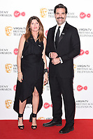 Sharon Horgan and Rob Delaney in the winners room for the BAFTA TV Awards 2018 at the Royal Festival Hall, London, UK. <br /> 13 May  2018<br /> Picture: Steve Vas/Featureflash/SilverHub 0208 004 5359 sales@silverhubmedia.com