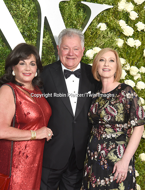 Charlotte St Martin, Robert Wankel &amp; Heather Hitchens attends the 71st Annual  Tony Awards on June 11, 2017 at Radio City Music Hall in New York, New York, USA.<br /> <br /> photo by Robin Platzer/Twin Images<br />  <br /> phone number 212-935-0770