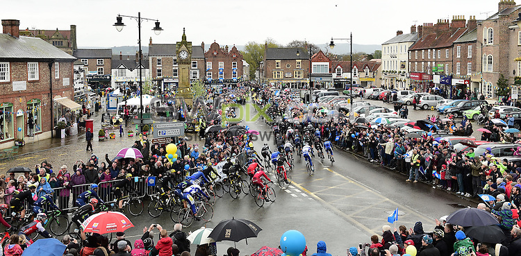 Picture by Alex Broadway/SWpix.com - 01/05/2016 - Cycling - Tour de Yorkshire, Stage 3: Middlesbrough to Scarborough - Yorkshire, England - The peloton passes through Thirsk.