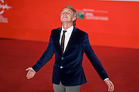 Marco Travaglio posa al red carpet del Festival del cinema di Roma per la prima del film Il Venditore Di Medicine. Italian journalist Marco Travaglio attends 'Il Venditore Di Medicine' Premiere during The 8th Rome Film Festival .