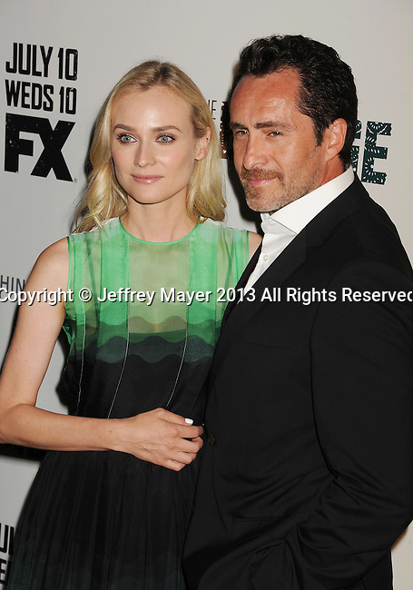 LOS ANGELES, CA- JULY 08: Actors Diane Kruger and Demian Bichir arrive at the Series Premiere Of FX's 'The Bridge' at DGA Theater on July 8, 2013 in Los Angeles, California.