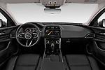 Stock photo of straight dashboard view of a 2020 Jaguar XE S 4 Door Sedan