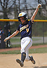 Jenna DeFina #5, Massapequa leadoff hitter, slides home safely as the go-ahead run in the bottom of the sixth inning of a Nassau County varsity softball game against East Meadow at Berner Middle School on Monday, Apr. 25, 2016. Massapequa won by a score of 6-4.