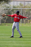 March 18, 2010:  Outfielder Keury De La Cruz of the Boston Red Sox organization during Spring Training at Ft.  Myers Training Complex in Fort Myers, FL.  Photo By Mike Janes/Four Seam Images