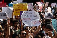 """2012.05.26 - MANIFESTAÇÃO/MARCHA DAS VADIAS - Manifestantes se reunem  na tarde deste sabado (26),  a segunda edição da Marcha das Vadias. A concentração acontece às 13h na praça do Ciclista, no canteiro central da avenida Paulista na região central de São Paulo, próximo à rua da Consolação. A manifestação é inspirada no movimento mundial intitulado """"Slut Walk"""", criado em abril do ano passado, após um oficial da polícia de Toronto, no Canadá, dizer que, para evitar estupros, as mulheres deveriam deixar de se """"vestir como vadias"""".(Fotos: Amauri Nehn/Brazil Photo Press)"""