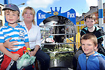 11-8-2014: Getting up close to the king are  Gillian Wharton-Slattery with Lee Wharton, Kyle O'Connor and Adam Wharton from Tralee  at Puck Fair, Killorglin on Monday.<br /> Picture by Don MacMonagle