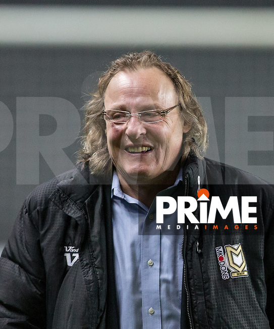 MK Dons Chairman Pete Winkleman before the match during the Sky Bet League 1 match between MK Dons and Chesterfield at stadium:mk, Milton Keynes, England on 22 November 2016. Photo by Andy Rowland.