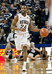 January 14, 2012:   Nevada Wolf Pack guard Deonte Burton brings the ball up the court against the Hawai'i Rainbow Warriors during their NCAA basketball game played at Lawlor Events Center on Saturday night in Reno, Nevada.