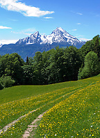 DEU, Deutschland, Bayern, Oberbayern, Berchtesgadener Land: der Watzmann (2.713 m) - Deutschlands zweithoechster Berg | DEU, Germany, Bavaria, Upper Bavaria, Berchtesgadener Land: Watzmann mountain (2.713 m)