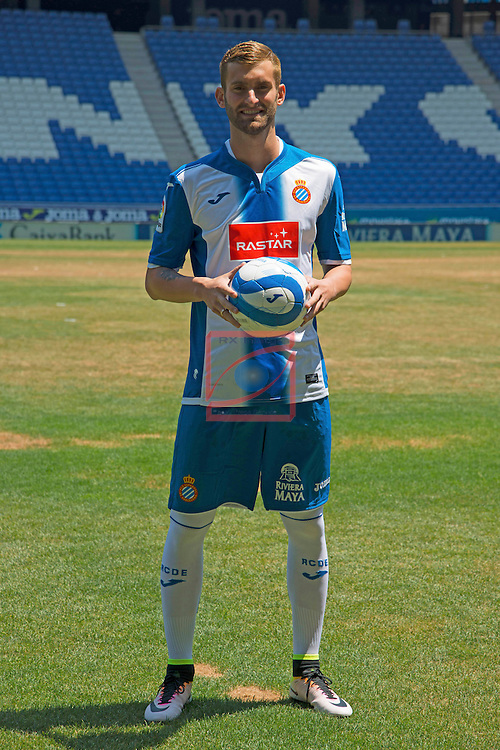 League BBVA 2016/2017.<br /> Leo Baptistao presented as new player of RCD Espanyol.