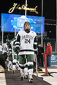 Pat Guerriero (Babson - 24) - The Norwich University Cadets defeated the Babson College Beavers 1-0 on Thursday, January 9, 2014, at Fenway Park in Boston, Massachusetts.