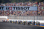 VALENCIA, SPAIN - NOVEMBER 11: Moto3 race start during Valencia MotoGP 2016 at Ricardo Tormo Circuit on November 11, 2016 in Valencia, Spain