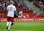 Steven Naismith scores the second goal for Scotland and celebrates