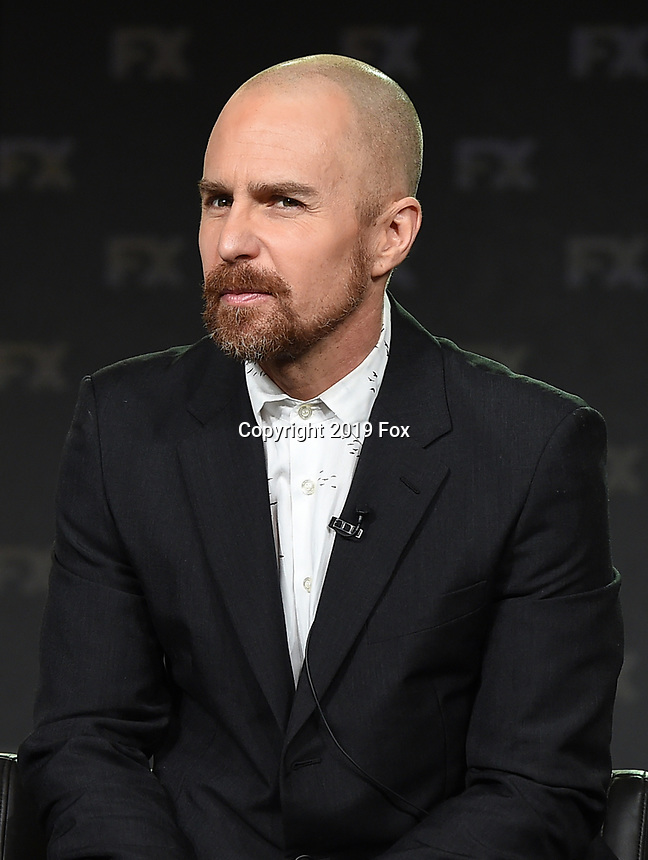 PASADENA, CA - FEBRUARY 4: EP/Cast Member Sam Rockwell during the FOSSE / VERDON panel for the 2019 FX Networks Television Critics Association Winter Press Tour at The Langham Huntington Hotel on February 4, 2019 in Pasadena, California. (Photo by Frank Micelotta/FX/PictureGroup)