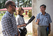 NPR's Jane Greenhalgh interviews Dr. Kaw Bing Chua at a pig farm in Ipoh, Perak, Malaysia on October 15th, 2016. <br /> In September 1998, a virus among pig farmers (associated with a high mortality rate) was first reported in the state of Perak in Malaysia. Dr. Chua investigated and discovered the virus and it was later named, Nipah Virus. The outbreak in Malaysia was controlled through the culling of &gt;1 million pigs.